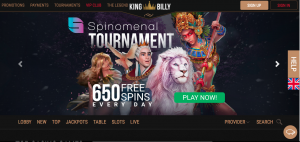 The welcome offer at King Billy Casino